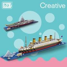 LOZ Diamond Blocks Technic Bricks Building Blocks Toy RMS Titanic Ship Steam Boat Model Toys for Children Micro Creator 9389