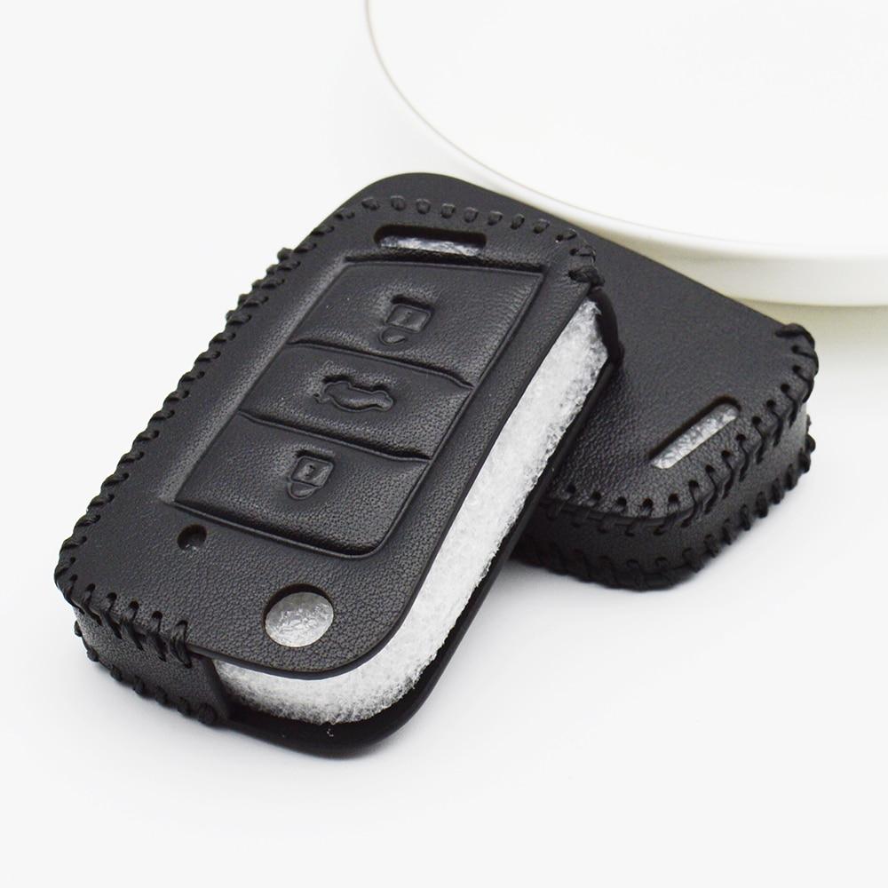 Leather Car Key Case Cover For Skoda Kodiaq Octavia 1 2 A5 A4 A7 Rapid Fabia 3 Superb Karoq Yeti 2018 2019 Key Shell Accessories