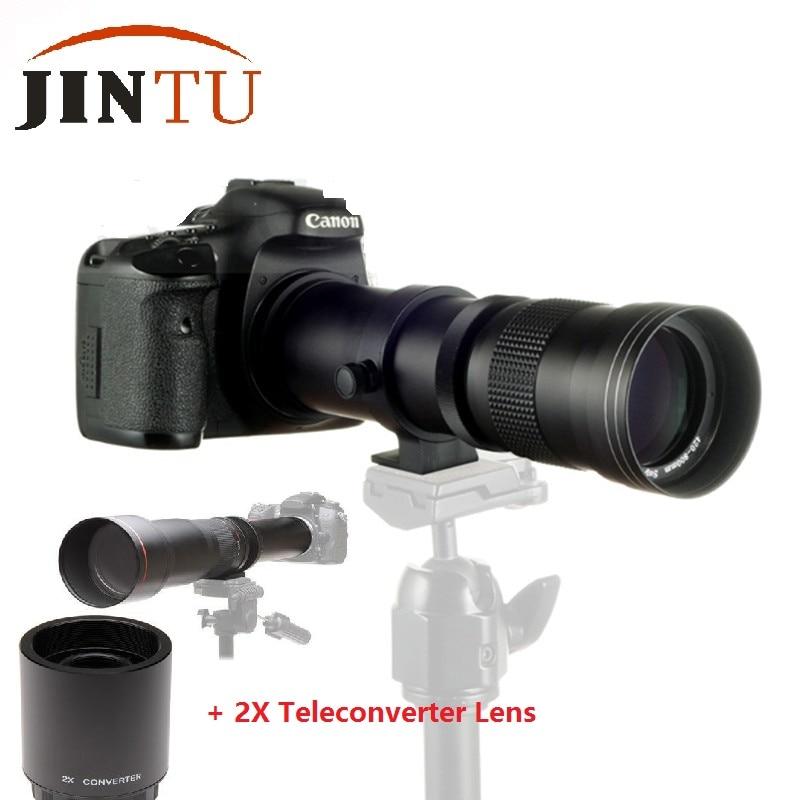 JINTU 420-1600 мм f/8,3 телеобъектив для Nikon D4s D3x D3100 D3200 D3300 D5500 D5200 D5300 D3S D3 D80 D90 D7500 D300 D7200