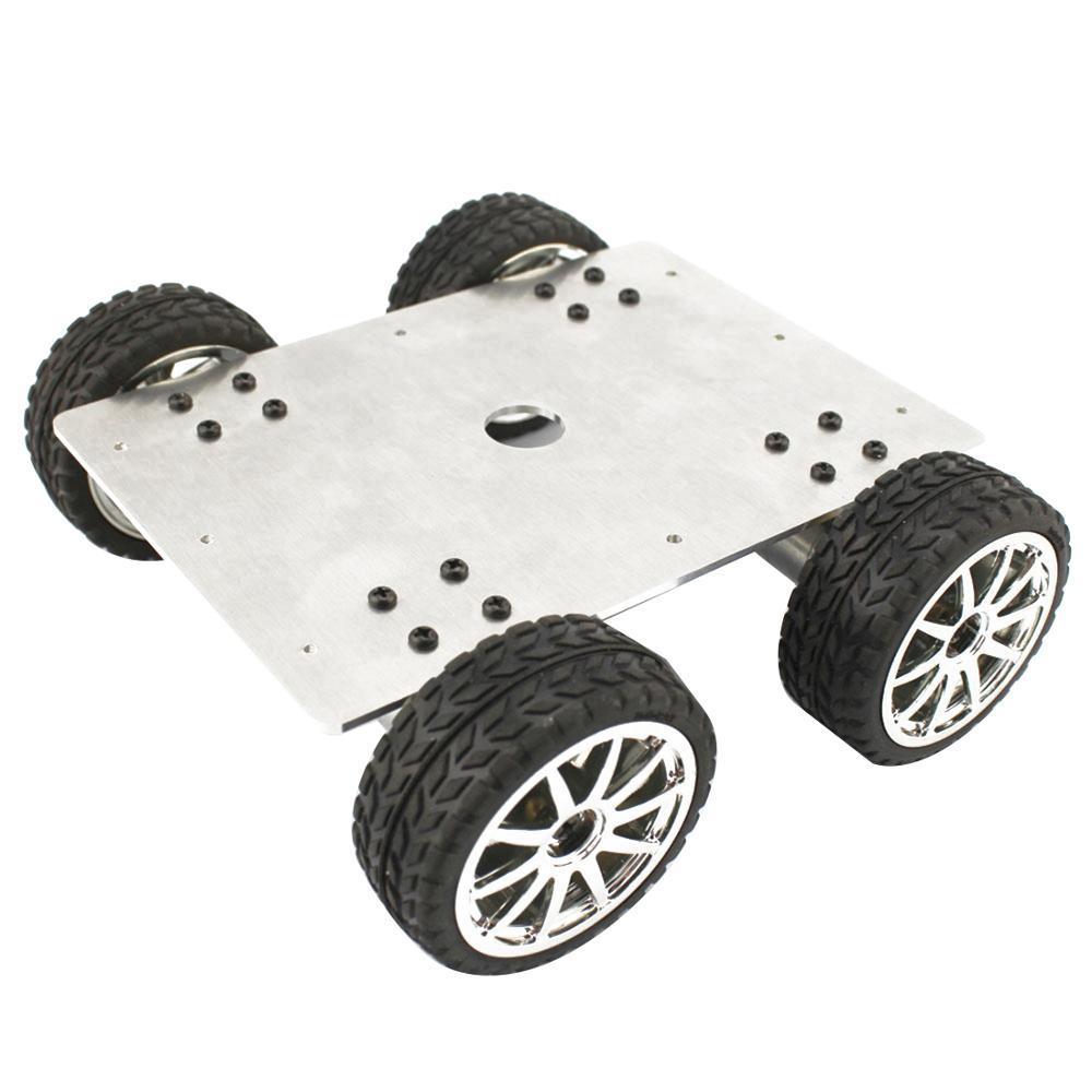 25 نوع 4WD سيارة مع محرك معشق سبائك الألومنيوم الشاسيه 65*26 مللي متر الإطارات/عجلة DIY بها بنفسك ذكي سيارة روبوت صهريج شاحنة