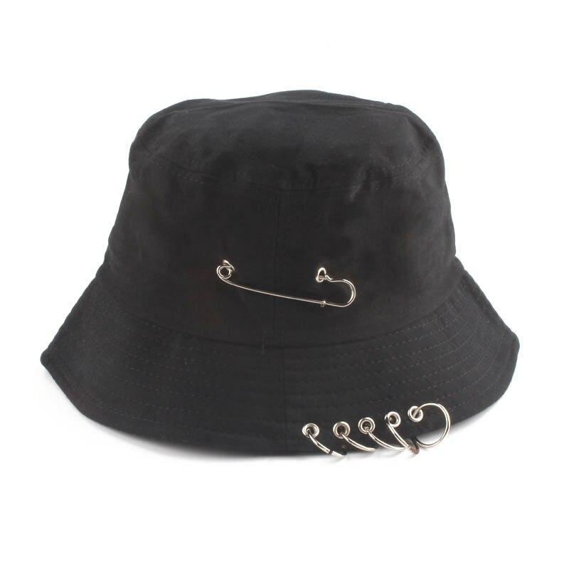 Nueva moda, anillo de hierro K POP, sombrero de cubo, estilo Popular, gorra de Hip Hop, 100%, anillos hechos a mano, gorra 2019, gran oferta
