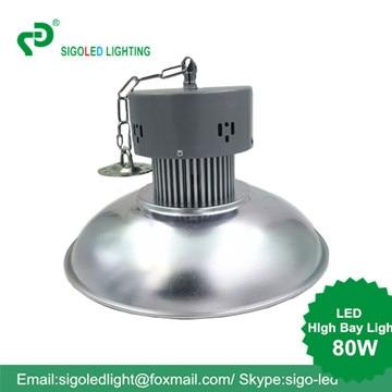 Libre shipping-80W LED de alta Bahía tipo colgante almacén de la fábrica de luz Indust0rial luz reemplazar Halgon lámpara led luces