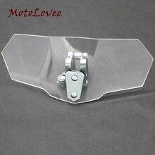 Motolovee melhor motocicleta windshields extensão spoiler windscreen extensor substituição unviersal para davidson bmw