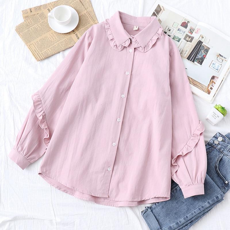 Blusas blancas de otoño para mujer, Camisas de manga larga, Camisas de mujer, blusas femeninas, blusas de algodón a la moda, Tops para chicas
