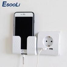 EsooLi çift USB bağlantı noktaları ve elektrik duvar USB soket şarj adaptörü ab soket 2A anahtarı güç dock şarj