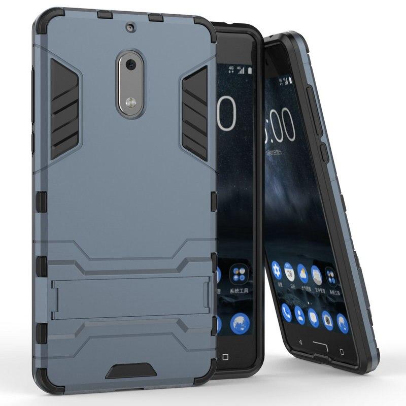 "3D Combo armadura caso para Nokia 6 Nokia6 2017 TA-1000 TA-1003 TA-1025 5,5"" funda trasera para teléfono a prueba de golpes"