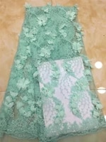 high quality lace fabric 3d applique lace african fabric latest shirt tulle lace fabric h 12264