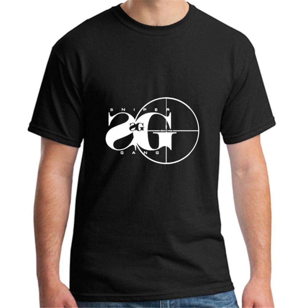 2019 Moda Sniper Gang T Camisas Homens Tshirt Rússia Militar de Tiro Jogo Objetivo Ousado T Camisa Camisetas 100% Algodão Verão