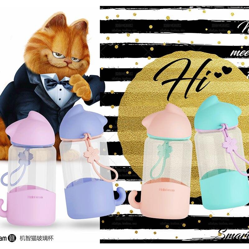 2019 nueva gran oferta taza de agua de Gato elegante botella de agua potable de 340ml taza de regalo de dibujos animados de moda taza de café se puede personalizar