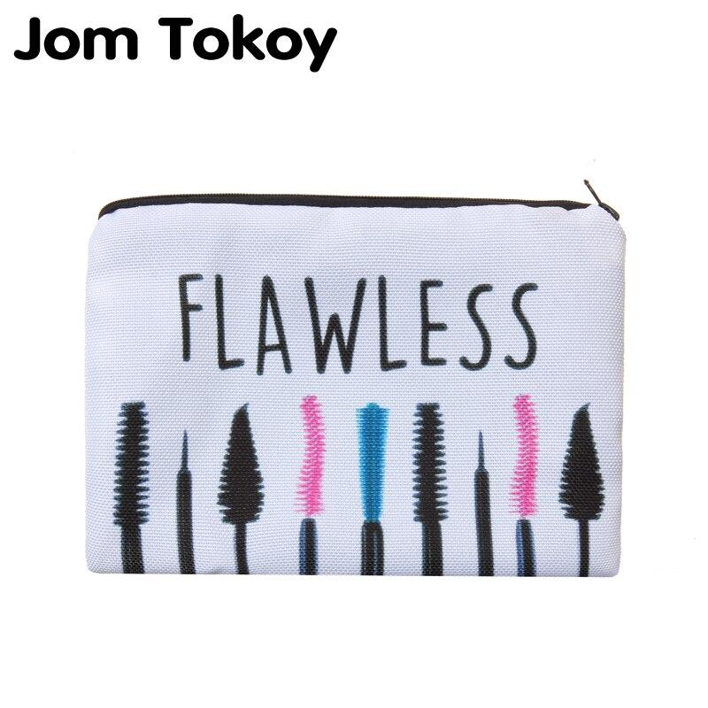 Jom Tokoy-bolsa neceser con estampado impecable para mujer, bolsa de viaje para...