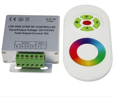 Controlador LED RGB Magic Dream Color, DC12, 24V 5 teclas carcasa de aluminio controlador RGB táctil RF para tiras led, luces de pared