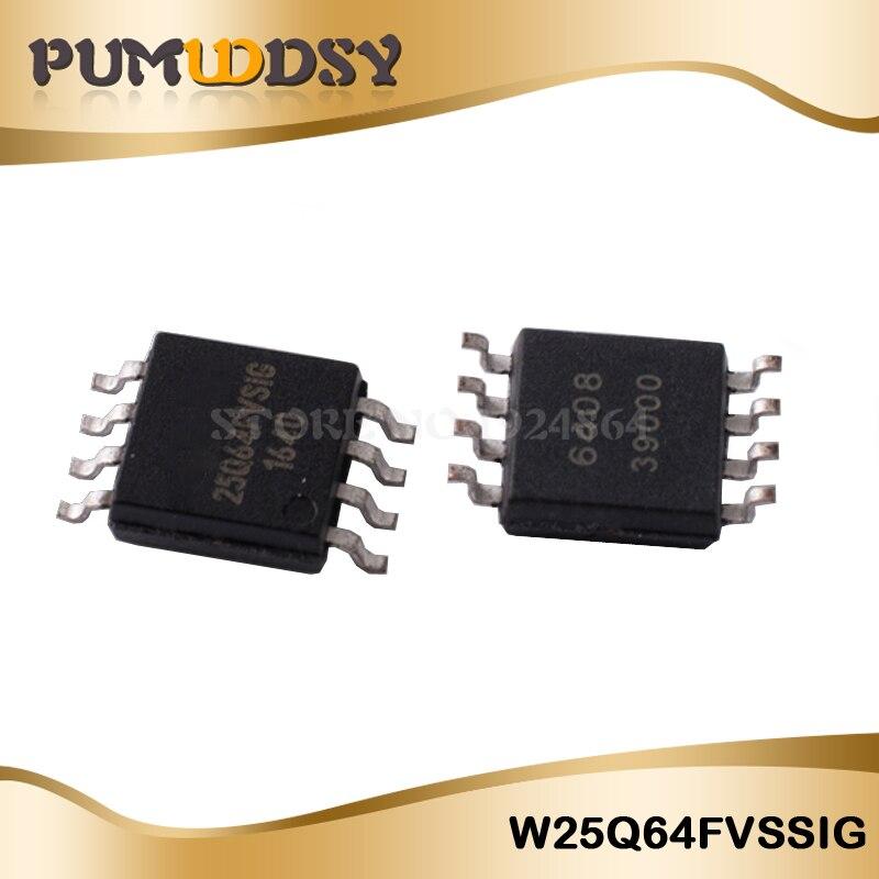 10pcs W25Q64FVSSIG W25Q64FV 3V 64M-BIT SERIAL FLASH MEMORY WITH DUAL/QUAD SOP IC