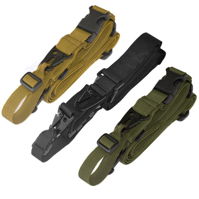 Nueva Durable táctico 3 Punto Rifle Sling cuerda elástica ajustable Honda gira Airsoft correa para pistola de caza