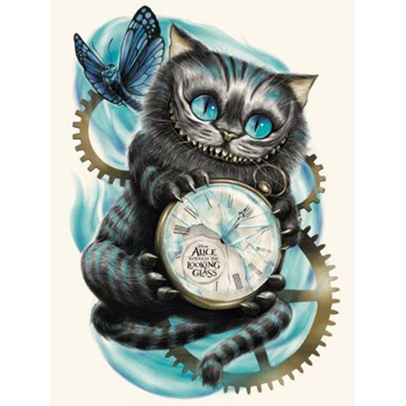 Cheshire Cat Alice Diamond Painting Wonderland Embroidery Cross-Stitch Mosaic Gift Home-Decor XU