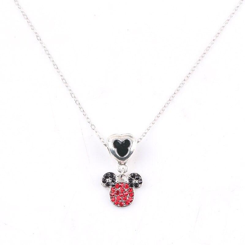 Bonito collar con colgante de Mickey, regalos exquisitos de alta calidad para niños, DIY favorito, adecuado para accesorios de joyería de mujer