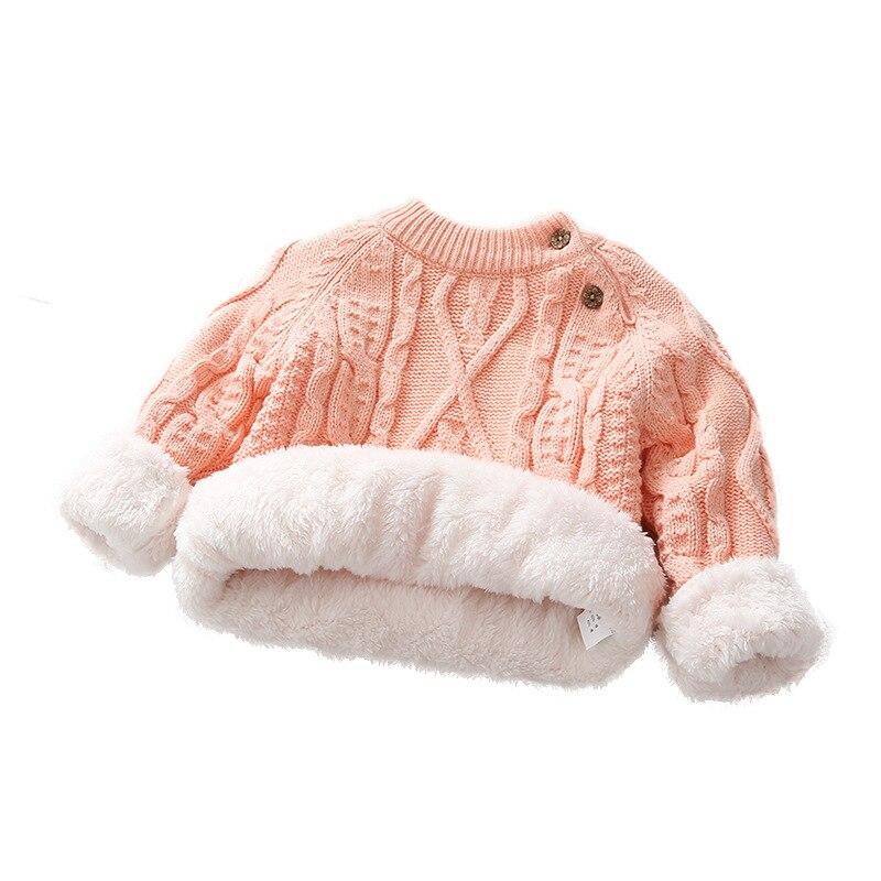 Bebé niñas suéter de invierno nieve de lana gruesa cálido Jersey niño camisas de punto para niños de algodón de manga larga Tops tableta amortiguador Tech accesorio beige Rojo Negro compruebe Tartan tableta amortiguador año