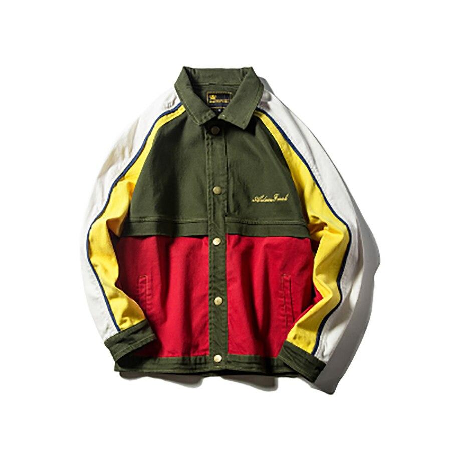 Chaqueta Bomber japonesa para hombres, Ropa de calle, chaqueta Anorak Vintage, reggae de Jamaica, Ropa de calle de moda Coreana de Hip Hop, Hombre Retro 5J38
