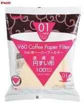 Фильтры из натуральной бумаги FeiC Hario vcf 01, без отбеливания, для 2 чашек, для бариста, VCF-01, подходит для vd-01