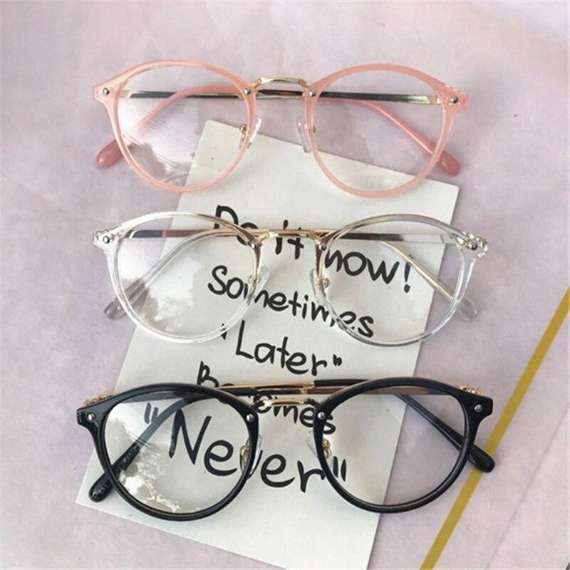 Montura de gafas redondas transparentes para mujer y hombre, monturas de gafas negras y rosas transparentes para mujer, gafas transparentes para mujer, gafas ópticas para Miopía