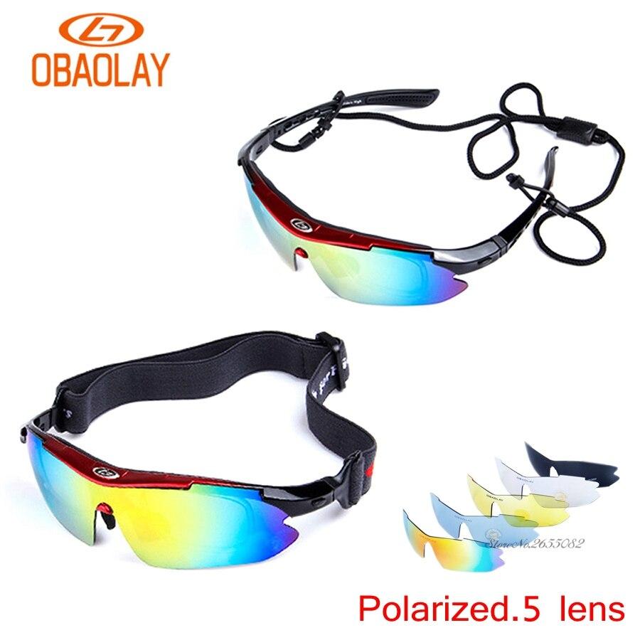 Uv400 ciclismo da motocicleta das mulheres dos homens do esporte conjunto polarizado óculos de esqui oculos óculos de sol para a pesca da bicicleta 5 lente