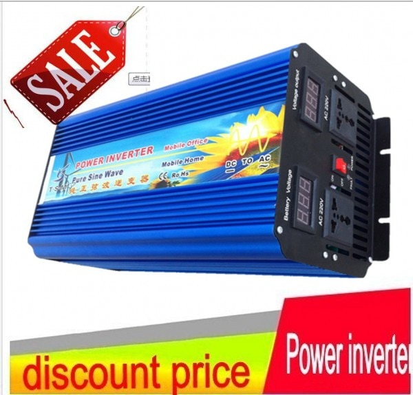 12V 24V 48V CC a CA 110v 220v 4000W inversor de potencia de onda sinusoidal pura