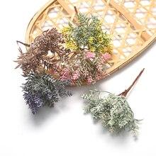 6pcs artificial flower lavender plant bouquet For wedding home Christmas decoration DIY wreath scrapbook craft fake flower