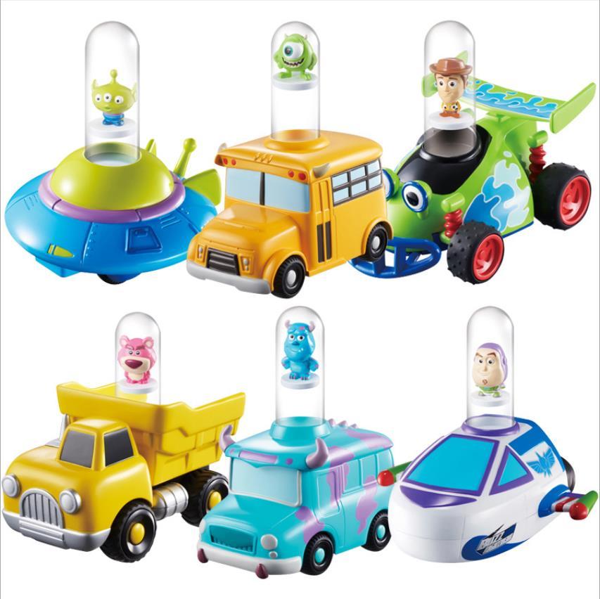 Disney juguete Story4 mágico saltar coche inercia de los niños del coche juguetes Woody Buzz Lightyear alienígena nuevo