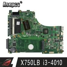 X750LB материнская плата для ноутбука For Asus X750LB X750LN X750L K750L A750L материнская плата Тест 100% ok I3-4010 ЦП GT740M/2 GB