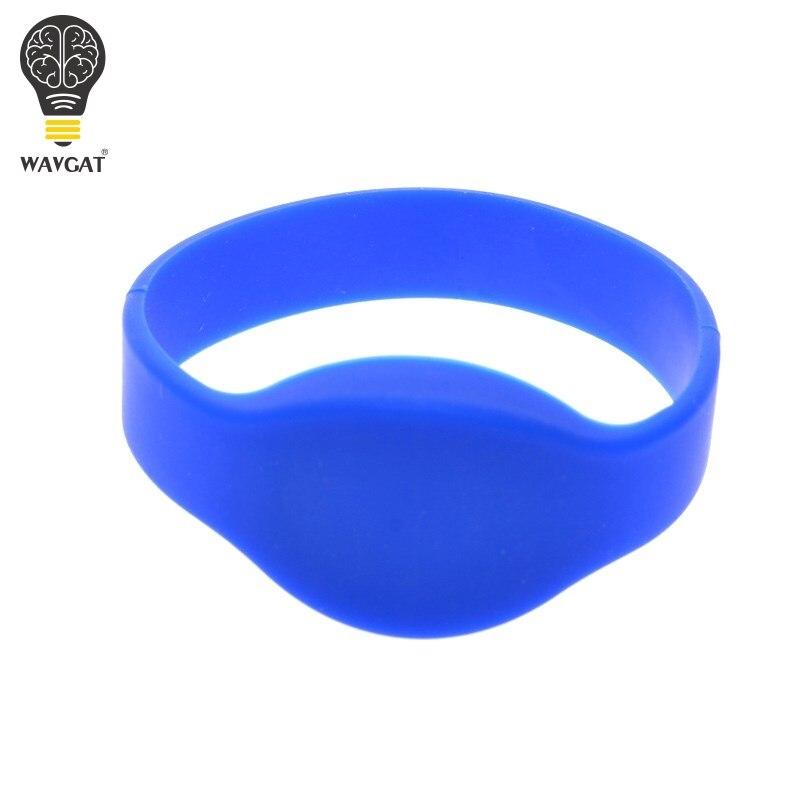 Pulsera WAVGAT RFID clásica 125 khz EM4100/TK4100 reloj pulsera de silicona pulsera tarjetas de Control de acceso