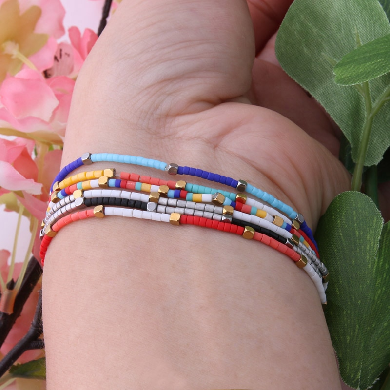NeeFu WoFu bead Exquisite Bracelet Bohemian Bracelets For Women Summer Beach Colorful Jewelry Pulseras Insta