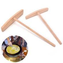 1 PCS Crepe Maker Pancake Batter Wooden Spreader Stick Home Kitchen Tool Kit DIY Use 2 Sizes