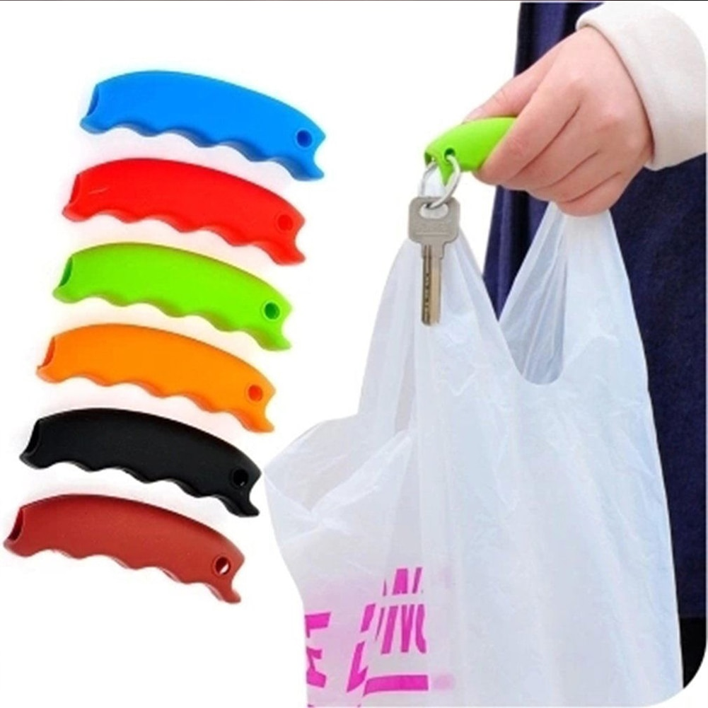 Silicone Portable Vegetable Device Labor Saving Shopping Bag Carry Holder with keyhole Handle Comfor