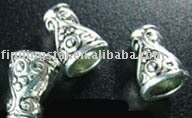 FREE SHIPPING 240Pcs Tibetan Silver Color ornate spiral cone bead caps A320