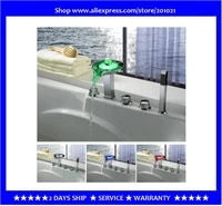 color changing led bathtub faucet tub faucet with hand shower chrome finish