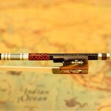 Archet de violon en Fiber de carbone tressé argent VINGOBOW Pro. Niveau boeuf corne grenouille nouveau 4/4 SizeModel 200V non blanchi cheval cheveux raides