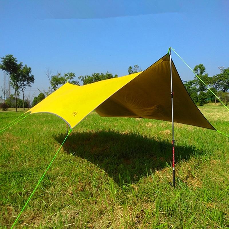 Toldo de silicona ultraligero 20D de ASTAGEAR, toldo de supervivencia exterior para acampar, toldo con protección solar, lluvia, playa, impermeable, tienda de campaña, tela