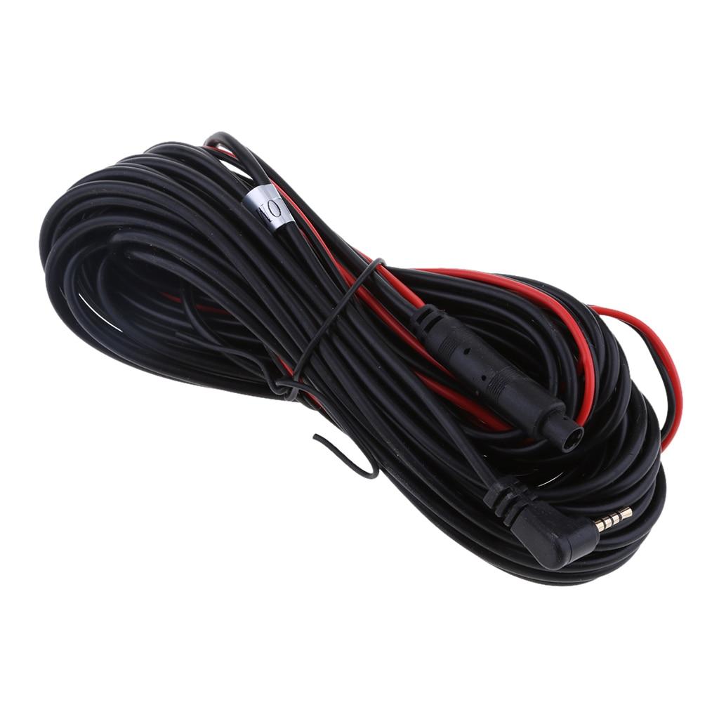 Universal 10 M/32Ft RCA Video 4 pin a 2,5mm Cable de extensión ajuste vista trasera de coche cámara de respaldo de fácil uso