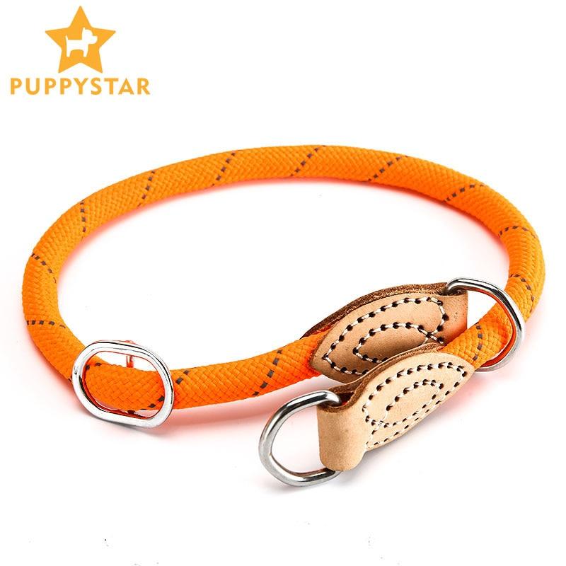 Collar de perro lindo de alta calidad ajustable suave cuerda redonda perro y amor Collar para pequeño gato perro cachorro Husky Nylon Collar YS0063