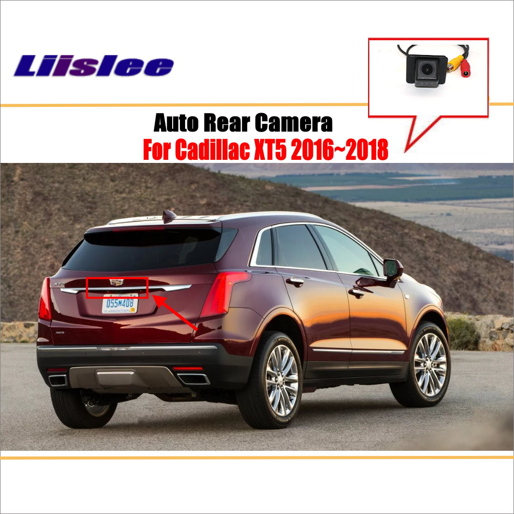 liislee rear view camera for peugeot 408 2014 2018 reverse hole parking back up camera night vision Liislee Rear View Camera For Cadillac XT5 2016~2018 / Reverse Hole / Parking Back Up Camera / License Plate Lamp / Night Vision