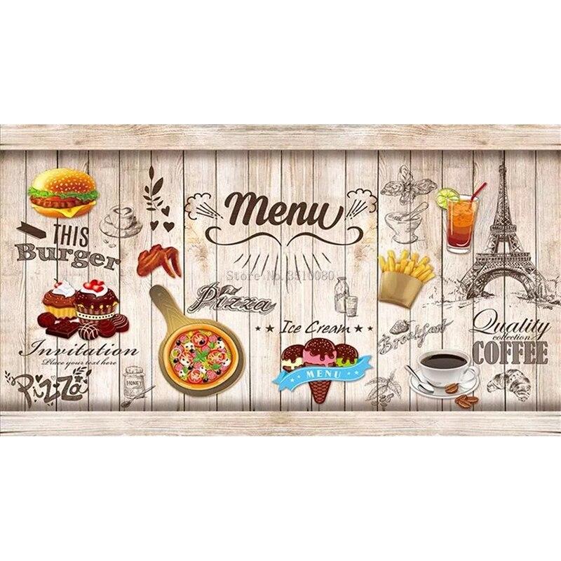 Tablero hamburguesa decoración de la habitación bordado patrón de diamante 5D DIY pinturas 3D kits de punto de cruz mosaico boda pegatinas de pared