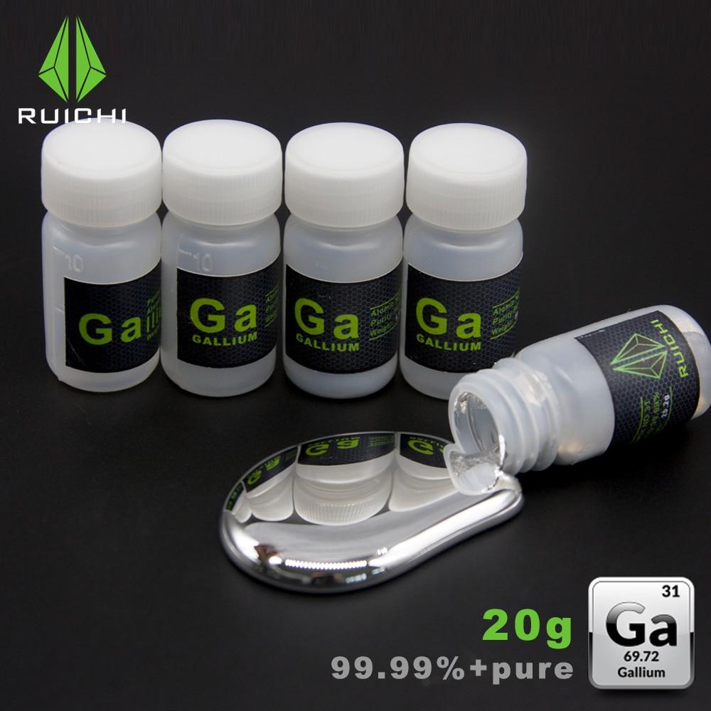 20 Grams 99.99% Pure Refine 4N Liquid Gallium metal Element 31 Free Shipping