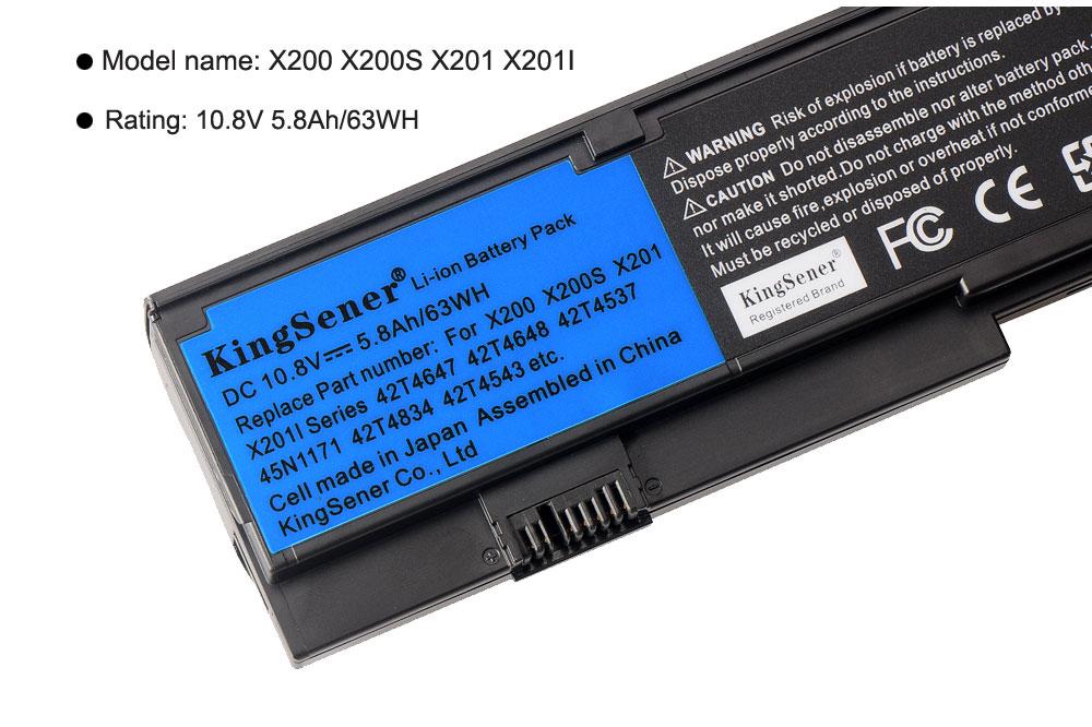 Купить с кэшбэком KingSener New Laptop battery For Lenovo IBM ThinkPad X200 X200S X201 X201I 42T4834 42T4535 42T4543 42T4650 42T4534 45N117