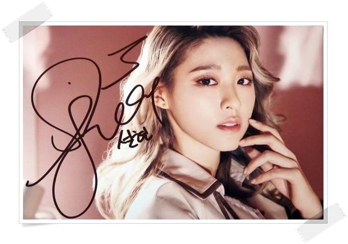 AOA Kim Seol Hyun autografiado firmado foto original Angel KNOCK 4*6 pulgadas nuevo coreano envío gratis 022017 A