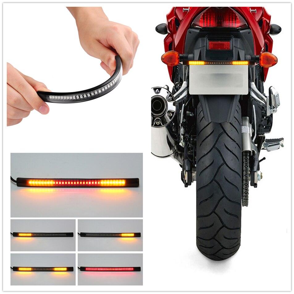 Tira de señal de giro de freno de placa de luz trasera LED de motocicleta para Ducati MONSTER 1200 S R 797 M797 M1100 S EVO 821 ST2