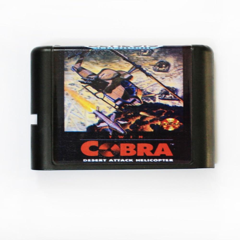 Twin Cobra-hélice de ataque del desierto, tarjeta de juego MD de 16...