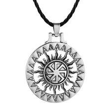 Slawischen Kolovrat Anhänger Rad Amulett Und Talisman Pagan Mens Frauen Halsketten Schmuck