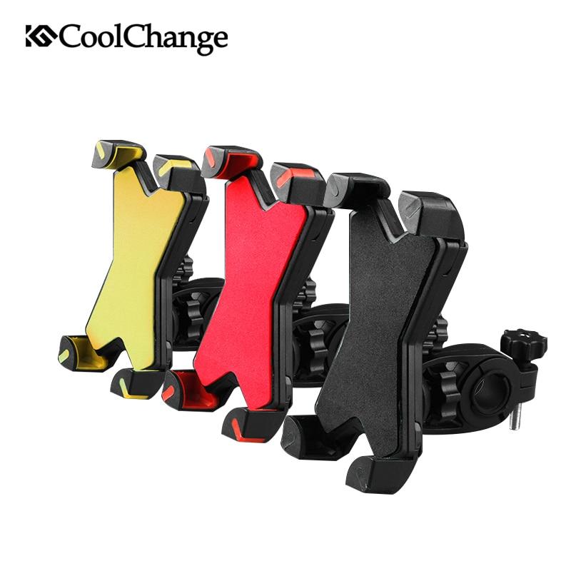 2017 CoolChange antideslizante Universal GPS 360 giratorio teléfono montaje 3,5-7 pulgadas soporte bicicleta ajustable 6s iphone 7 Samsung