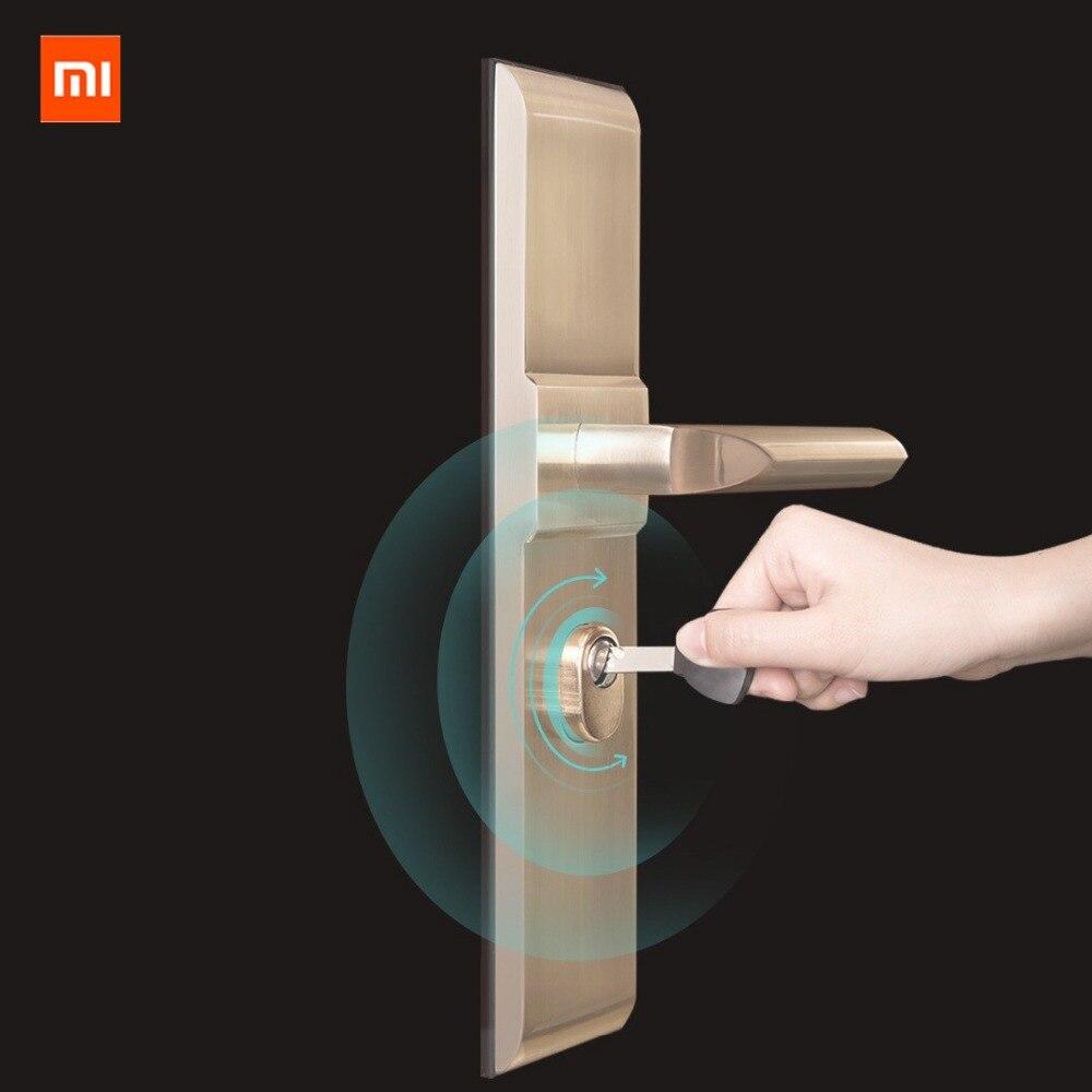 Promo xiaomi mijia aqara Smart Lock Door Home Security Anti-theft Door Lock Core with Key work with Smart mi home APP