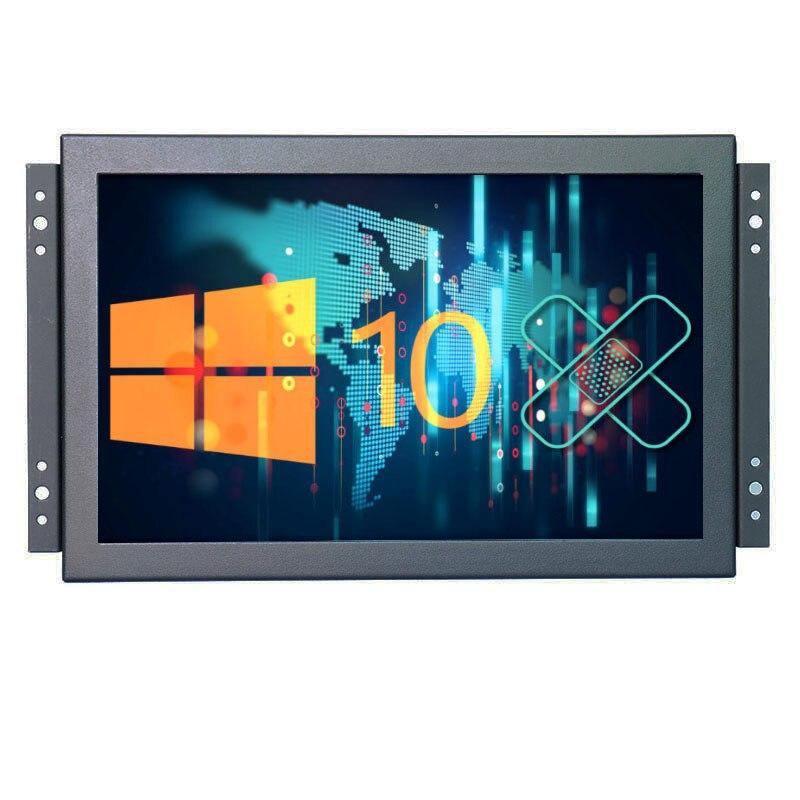 Monitor Industrial 10 pulgadas 1920*1200 16:10 pantalla LCD ancha con interfaz AV/BNC/VGA/HDMI/USB, CON ALTAVOCES