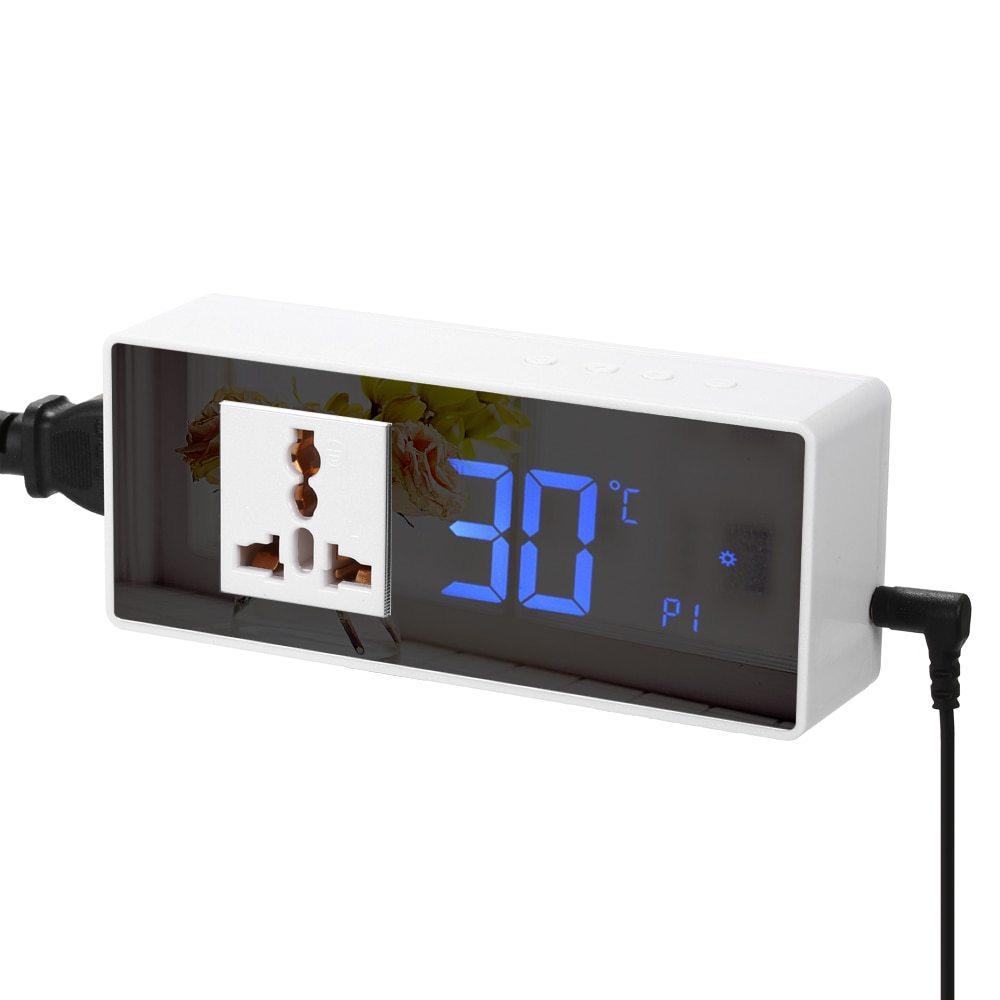 AC105-240V 10A termostato Digital regulador de temperatura controlador microordenador interruptor de Control de temperatura con NTC
